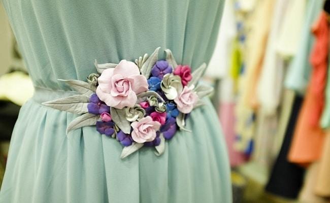 cinturones de flores para bodas románticos
