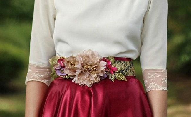 cinturones de flores para bodas elegantes