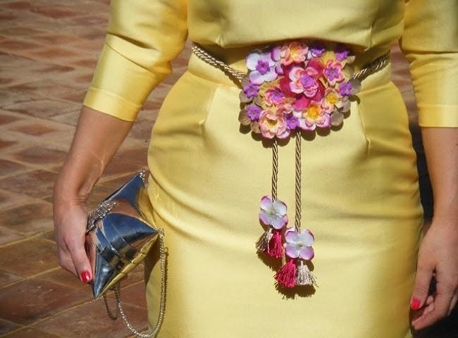 cinturones de flores para bodas originales