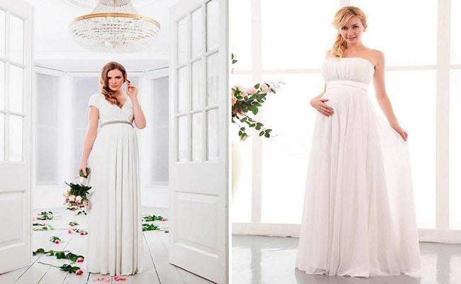 vestidos de boda blanco para embarazadas