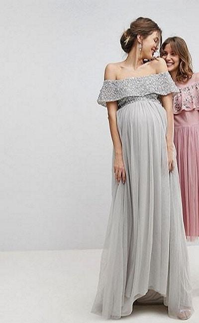 vestidos de boda elegantes para embarazadas