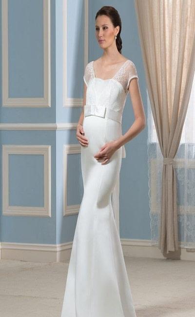 vestidos de boda entallados para embarazadas
