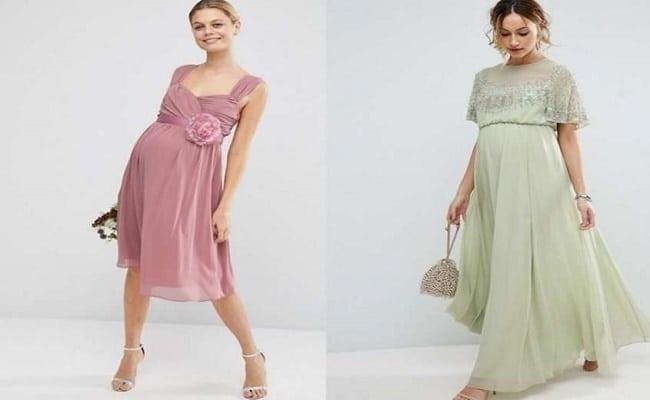 vestidos de boda cortos para embarazadas