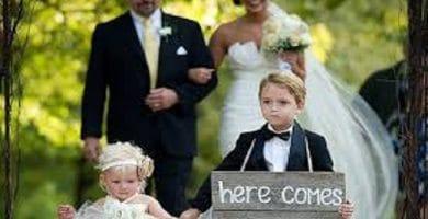 Trajes de boda para niños